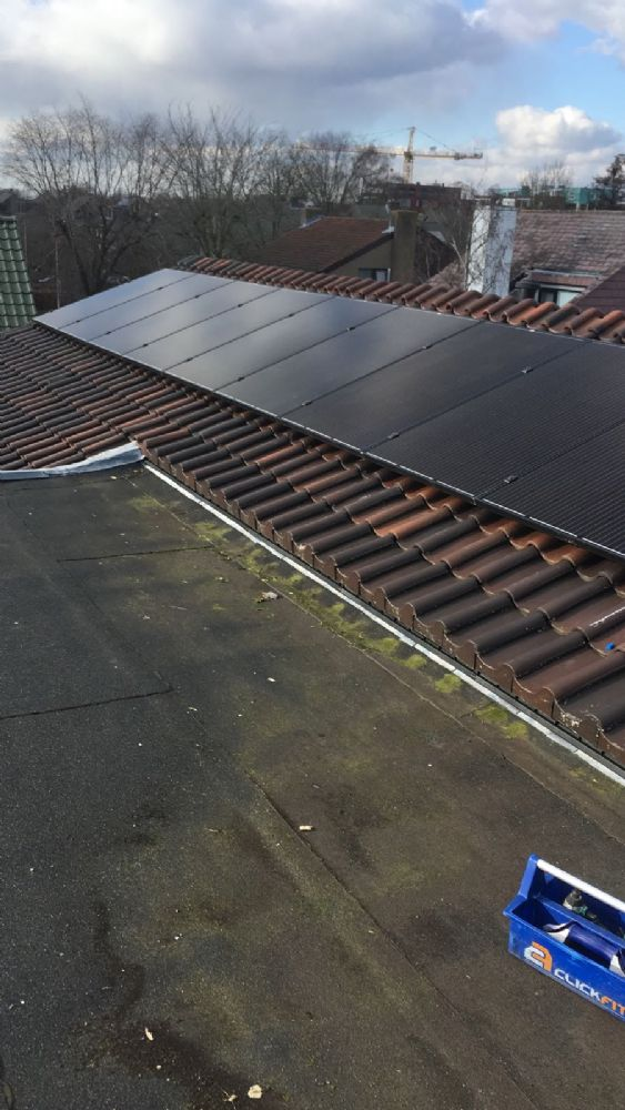 11 zonnepanelen Trina solar 295WP all black + Growatt3000-S omvormer
